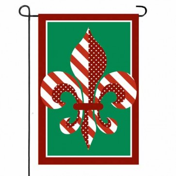 Fleur De Lis for the Holidays    Garden Flag