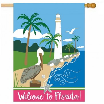 Florida Lighthouse House Flag