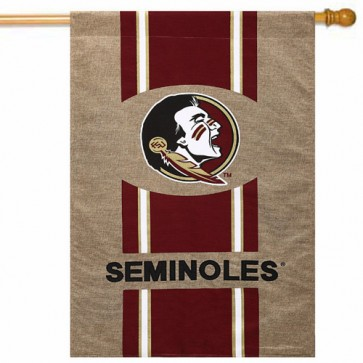 Florida State Burlap House Flag