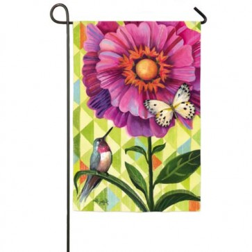 Flower Burst Garden Flag  (Two Different Sides)