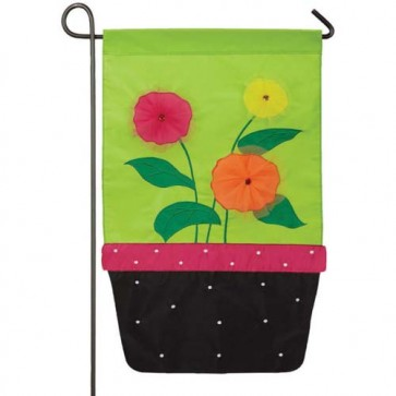 Flower Pot Garden Flag