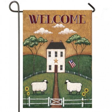 Folk House  Garden Flag