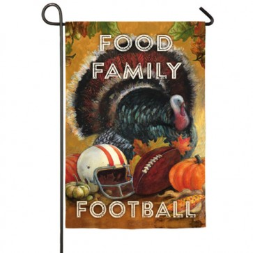 Food, Family, Football Garden Flag