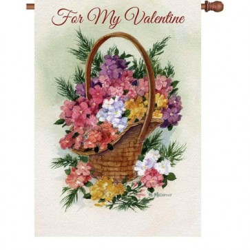 For My Valentine House Flag