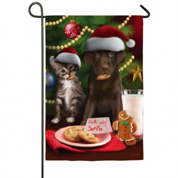 For Santa Only Garden Flag
