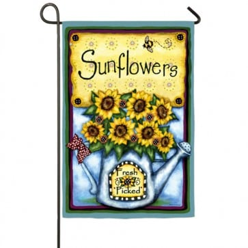 Fresh Picked Sunflowers Garden Flag