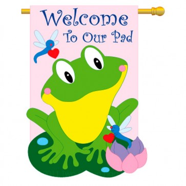 Friendly Frog House Flag