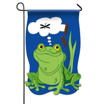 Frog Dreams Garden Flag