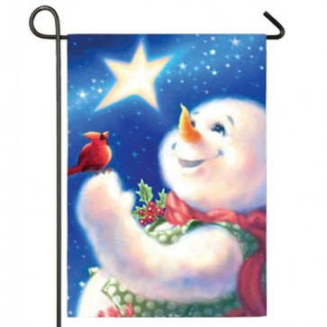 Frosty Magic Garden Flag