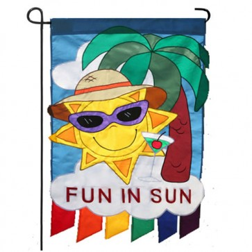 Fun in the Sun Summer Garden Flag