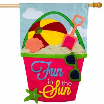 Fun in the Sun Summer House Flag