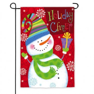 Holiday Cheer Snowman Garden Flag