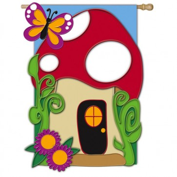 Garden Home House Flag