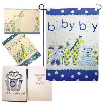 Baby Boy Garden Flag (Evergreetings Set)