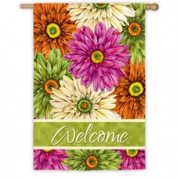Gerberas  Welcome House Flag