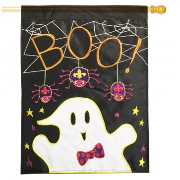 Ghost Boo House Flag
