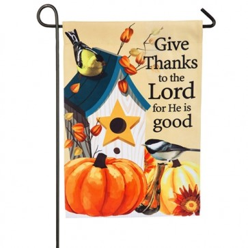 Give Thanks to the Lord Garden Flag