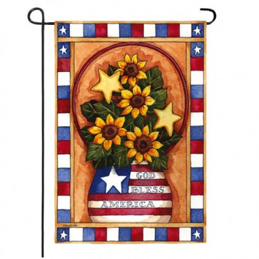 God Bless America Garden Flag (Two Flags in One)