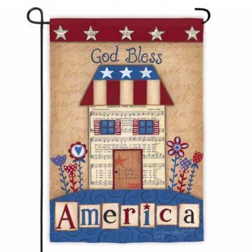 God Bless America House Garden Flag