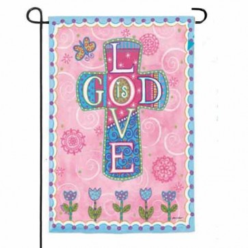 God Love Garden Flag