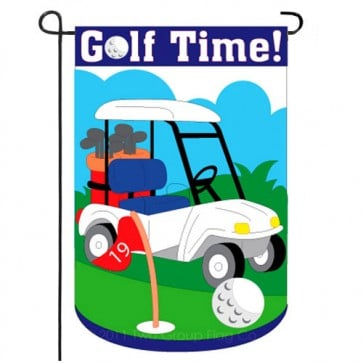 Golf Time Garden Flag