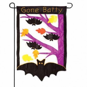 Gone Batty Garden Flag