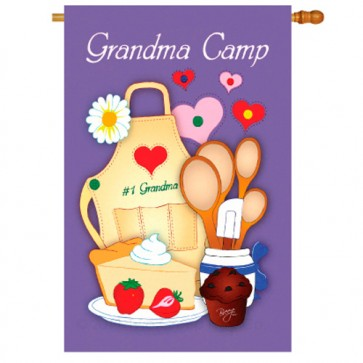 Grandma Camp House Flag