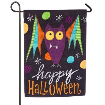 Halloween Bat, Fright this Way Happy Halloween Garden Flag