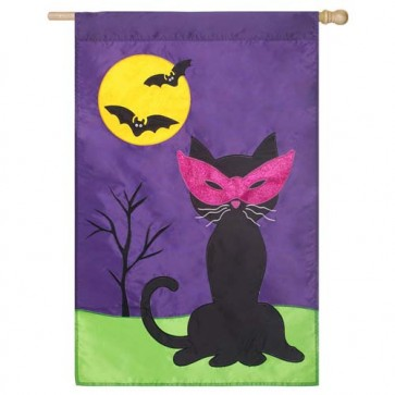 Halloween Cat House Flag