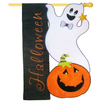 Halloween Ghost House Flag