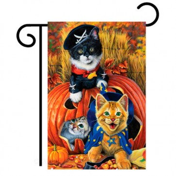 Halloween Kittens Garden Flag