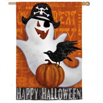 Halloween Night House Flag  (Two Flags in One)