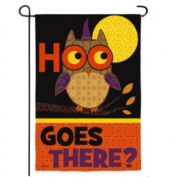Halloween Owl and Cat Garden Flag (Two Flags in One)