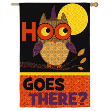 Halloween Owl and Cat House Flag (Two Flags in One)