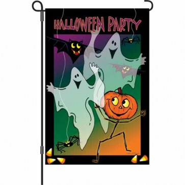 Halloween Party Garden Flag