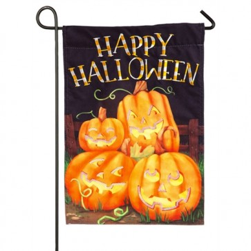 Halloween Pumpkin Patch Garden Flag