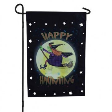 Witch Ride Garden Flag   (Hologram)
