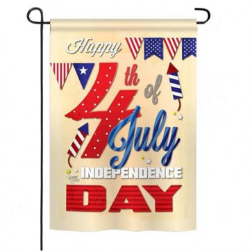 Happy 4th of July Patriotic Garden Flag