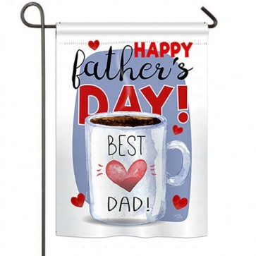 Happy Best Dad Day Garden Flag