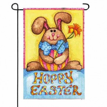 Happy Easter Bunny Garden Flag  (Two sides Are Different))