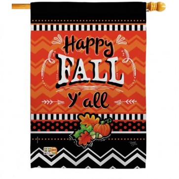 Happy Fall House Flag