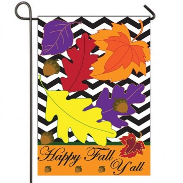 Happy Fall Y'all Leaves Garden Flag