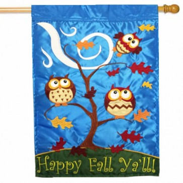 Happy Fall Y'all Owls House Flag