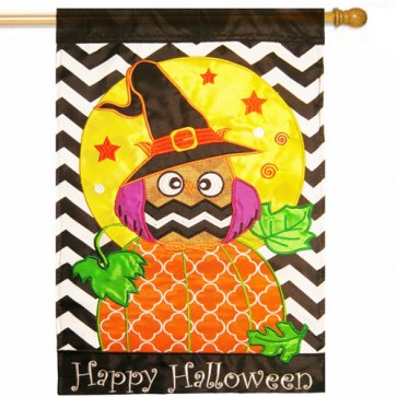 Happy Halloween House Flag