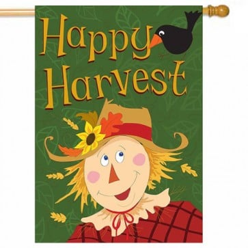 Happy Harvest Thanksgiving House Flag