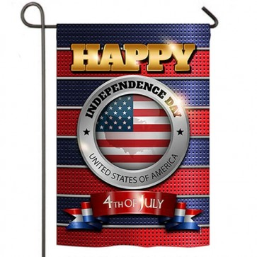 Happy Independence Day Garden Flag