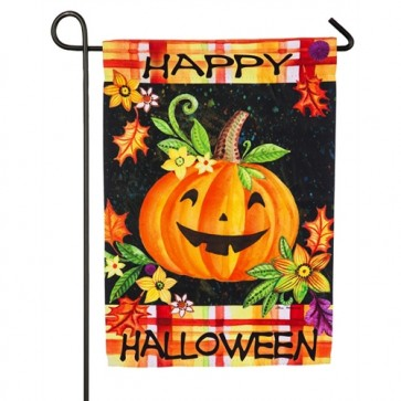 Happy Jack O Lantern Garden Flag