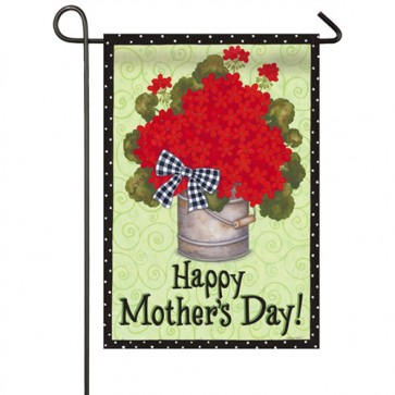 Happy Mothers Day Geraniums Mothers Day Garden Flag