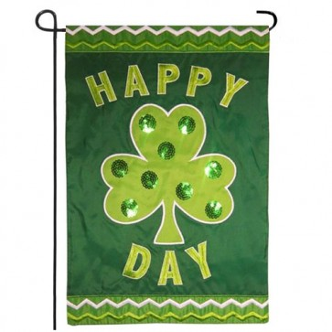 Happy Shamrock Day Garden Flag