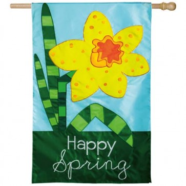 Happy Spring House Flag